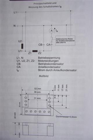 Anlaufrelais, ERA2302402, Klixon, Anlaufkondensator