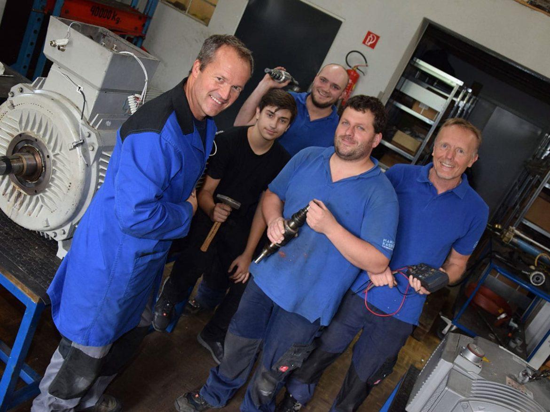 Team - Kaserer Elektromaschinenbau, Copyright Stadtnachrichten/Ricky Knoll